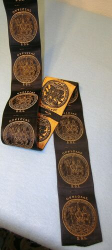 10 ODD FELLOWS SGL Sovereign Grand Lodge UNUSED OFFICIAL SILK RIBBONS *MC Lilley