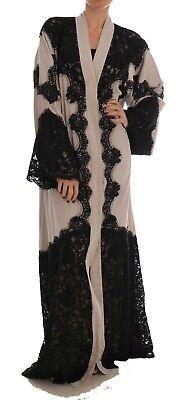NEW $5200 DOLCE & GABBANA Dress Cape Beige Black Ricamo Kaftan Abaya IT40/ US6/S