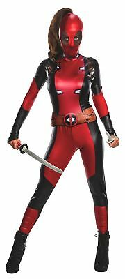 Marvel Comics Sexy Female Deadpool Costume Jumpsuit Womens Adult Superhero XS-LG