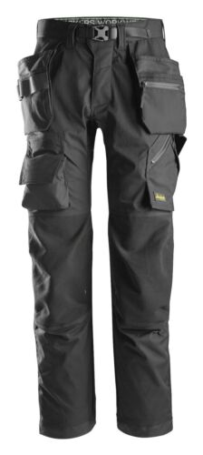 Snickers 6923 FlexiWork Floorlayer Work Trousers+ Holster Pocket Black BNWT