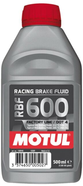 Motul RBF600 Fully Synthetic Racing Motorsport Brake Fluid Dot 4 500ML