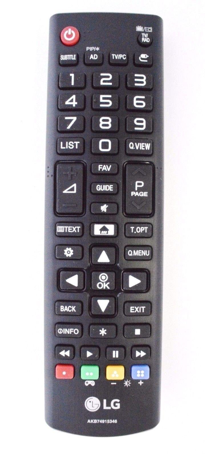 Image of Lg Akb74915346 Remote Control For 24mt48 / 24mt48df-pz / 24mt48dg-bz / 24mt48s