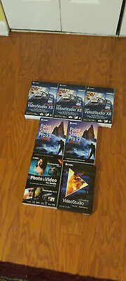 Lot (7) Corel Photo & Video Editing Software - All Unopened