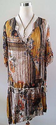 Kaelyn Max II Multi Print Asian Inspired Drop Waist  Asymmetrical Hem Dress for sale  Lenoir