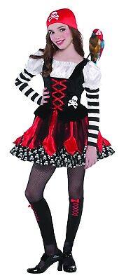 Girls' Crossbone Cutie Pirate Child Costume MEDIUM NEW - Pirate Cutie Costume