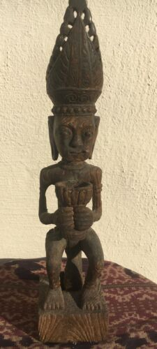 Old wooden statue Siraha Salawa, Nias Ancestor Figure, Indonesia, 19-20 cent