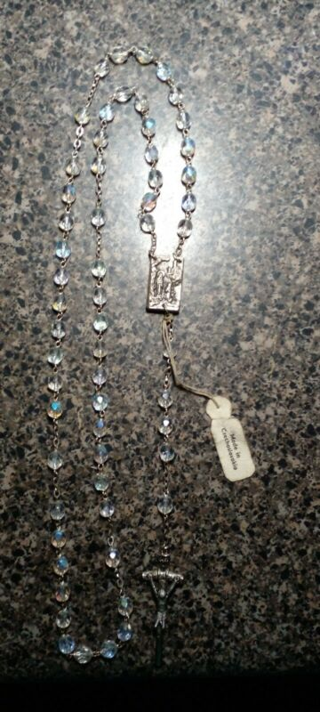 Our Lady of Fatima Rosary Made In Czechoslovakia Virgin Mary
