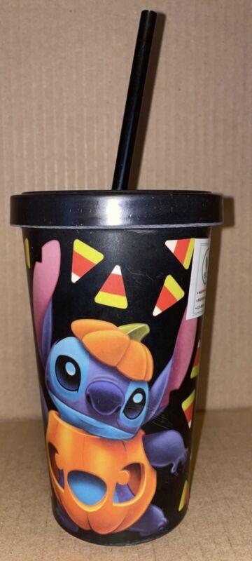 Disney Stitch HALLOWEEN CANDY CORN Bamboo Straw Cup Tumbler New