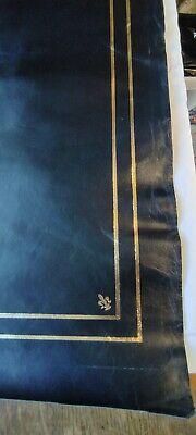 Black Leather Insert For Desks Writing Tables & Bureaus Gold Tooling 59 x 118cm