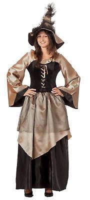 sexy Damen Hexenkleid Hexen Kostüm Hexe Zauberin Feen - Fee Kostüm