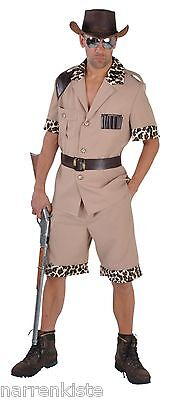 Safari Jungle Jäger Dschungel Urwald Kostüm Herren Großwildjäger Pfadfinder - Großer Mann Kostüm