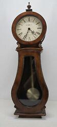 Howard Miller 625-377 (625377) Arendal Banjo Wall Clock - Tuscany Cherry NR yqz