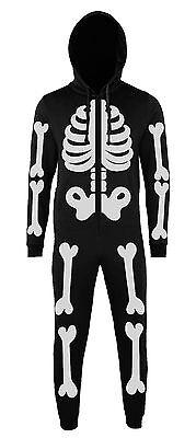BATCH1 Esqueleto Completo Estampado Novedad Disfraz de Halloween Adulto una Sola](De Unas De Halloween)