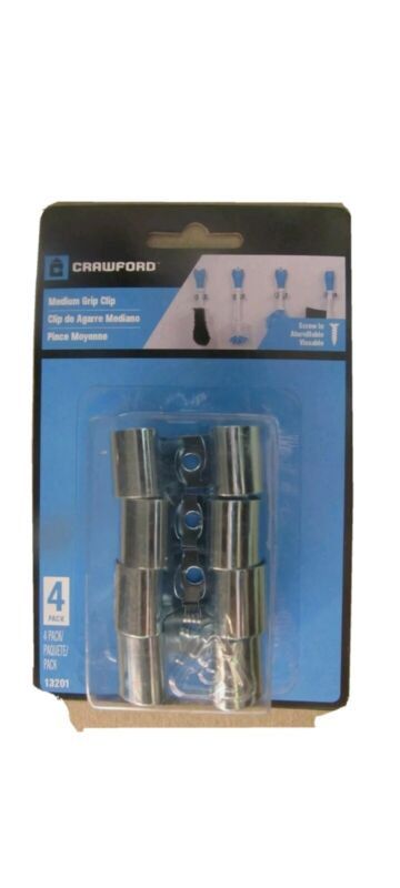 Crawford Medium Grip Broom and Tool Clips 4 pack #13201   NEW