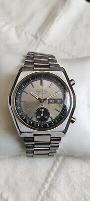 Vintage Seiko Chronograph 6139-7080 Automatic Stainless Steel Day Date Watch