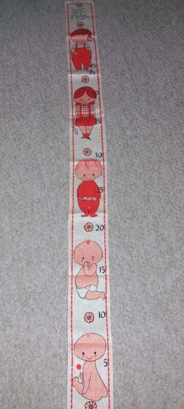 Vintage Dewan Linen Baby Child Growth Chart BELGIAN Wall Hanging Nursery