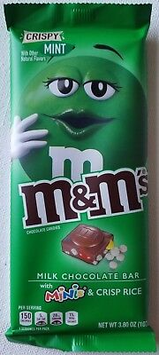 NEW M&M'S Crispy Mint & Minis Chocolate Candy Bar 3.80 Oz Free World Shipping (M&m Minis)