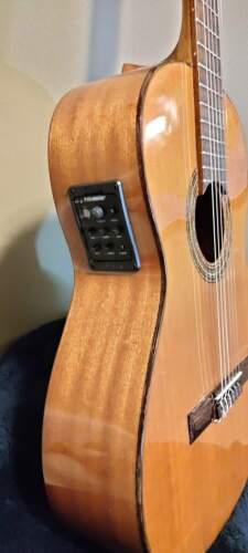 Esteve Fernandez Valencia Acoustic Electric Classical Guitar Made in Spain w/bag