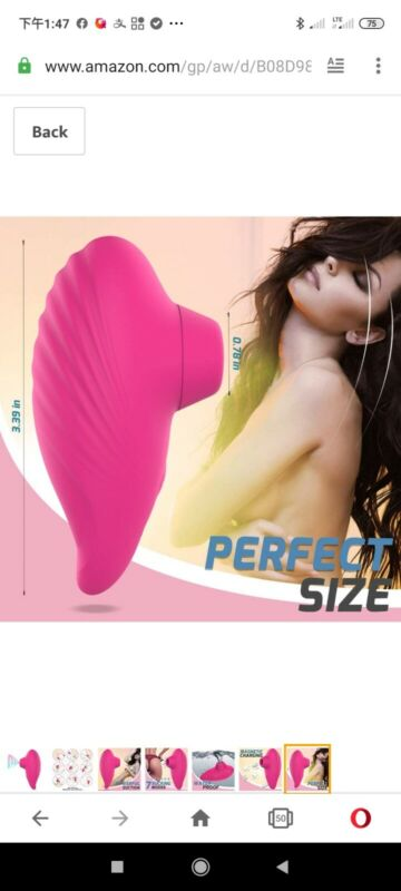 Clitoral Sucking Vibrator with 7 Intense Suction,little Toys for Women Couple