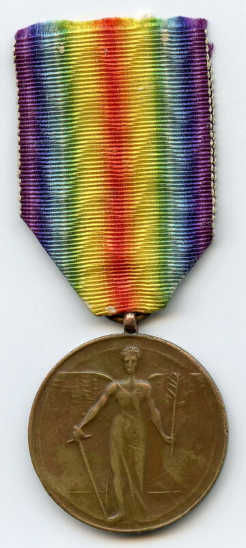 g837 ROMANIA Victory Medal WWI Interallied – Unlisted RARE VARIANT