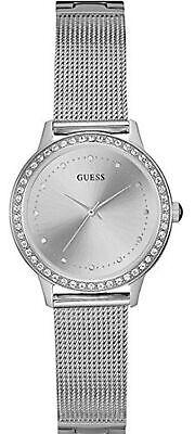 GUESS Women's CHELSEA Silver Tone Stainless Steel Quartz Watch W0647L6