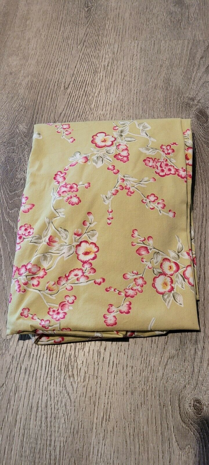 TADPOLES 2 PC BABY CRIB SHEET CRIB SKIRT GREEN CHERRY BLOSSOMS PINK FLOWERS - $18.50