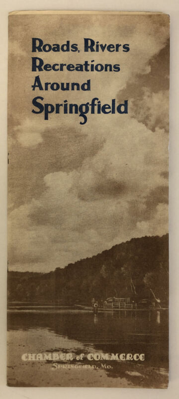 Roads Rivers Recreations around Springfield MO Chamber of Commerce 1930s 9 maps