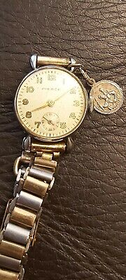 Vintage Pierce 15 Jewel Swiss Hand-Winding Ladies Watch (1940s Working) & Case