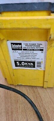 Defender 5kva 110V Site Transformer, 2 x 16 & 1 x 32 Amp Sockets, 5.0kVA