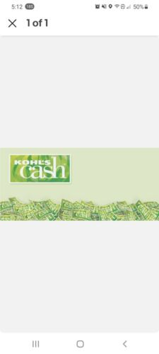 Kohl s Cash 163.31 - $150.00
