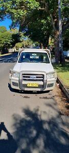 2007 White Ford Ranger Manual Turbo Diesel 4x2 Tray Back Ute