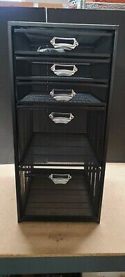5-tiered Drawer Cabinet Office Cartblack