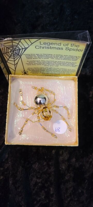 Halloween , Holiday Christmas Spider Ornament with legend ,Great Gift Giver #68