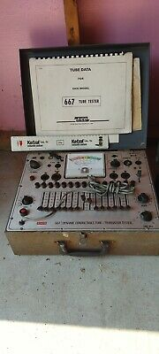 Eico 667 Dynamic Conductance Tube Tester Valve Transistor Tester