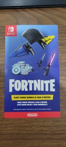 Fortnite Fleet Force Bundle & 500 V Bucks Nintendo Switch QUICK DELIVERY!