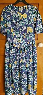 Vintage Laura Ashley Tea Dress UK12