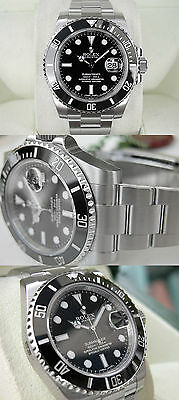 Rolex SUBMARINER 116610 Mens Stainless Steel Black Ceramic Bezel 40MM Black Dial