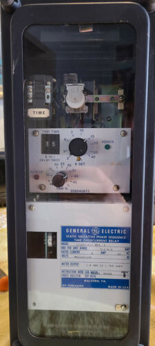 General Electric Static Negative Phase Sequence Relay   Model 12SGC21C1A