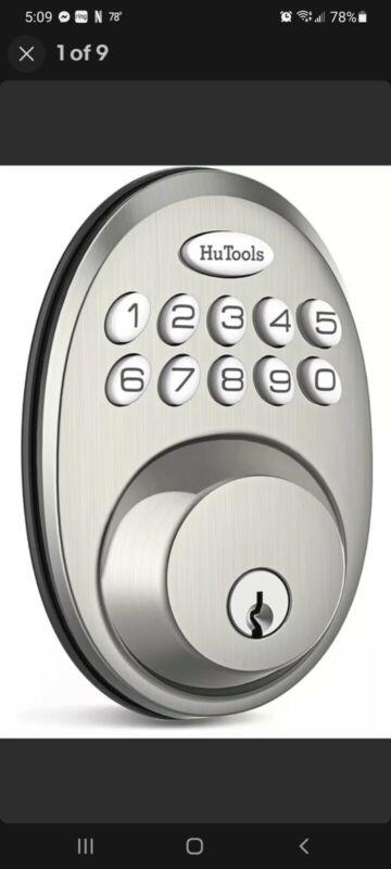 HuTools Keypad Digital Deadbolt Satin Nickel HT01