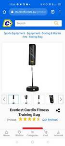 Everlast punching bag on stand