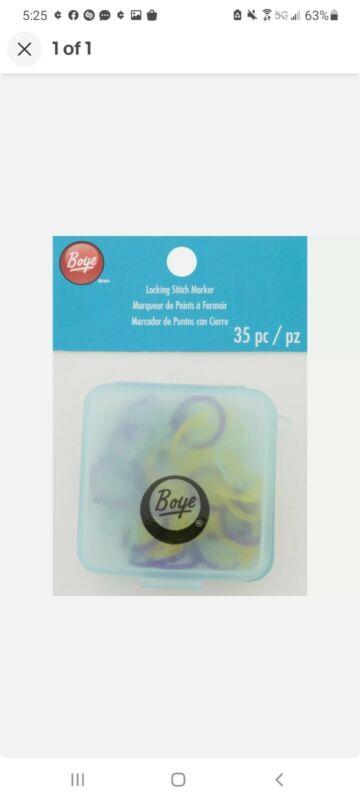 Boye Jumbo Stitch Markers, Set of 35. FREE SHIPPING