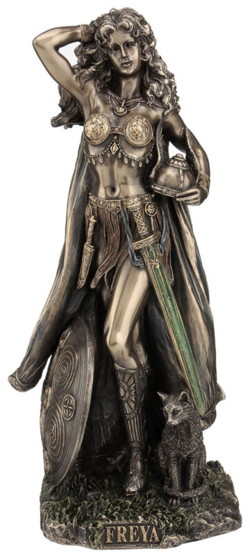 "10.5"" Norse God Freya Viking Statue Figure Figurine Sculpture Decor"