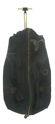 Kipling Rolling Duffel Bag Soft Side Suitcase Luggage Large Navy Blue