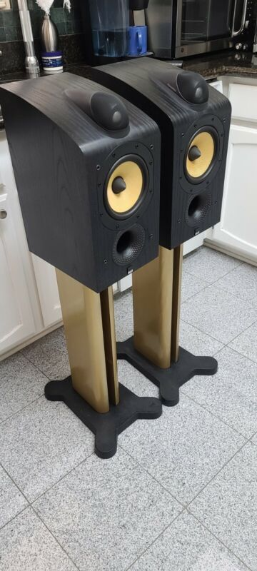 B&W 705 Pair SPEAKER STANDS ONLY Custom Painted Gold!