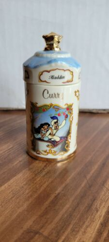 Walt Disney Lenox Aladdin Curry Vintage Spice Jar 1995