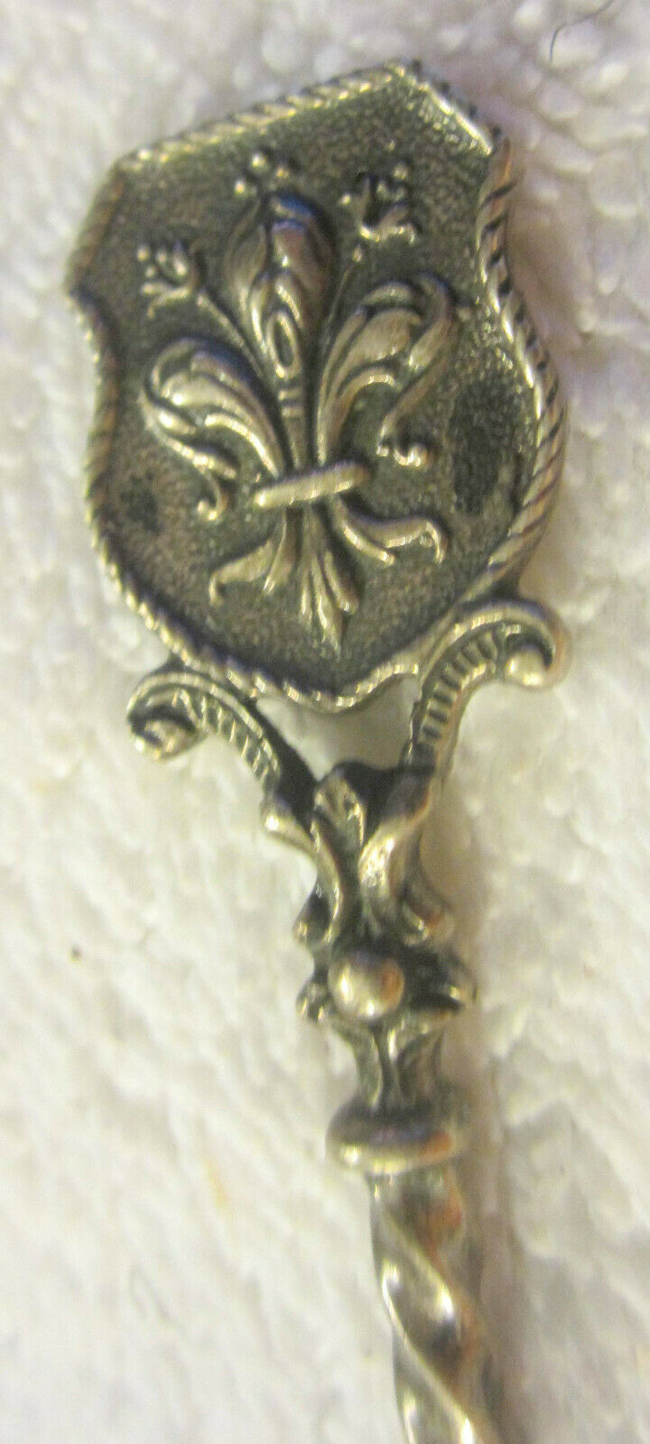 Vintage 800 Silver Italy Shell Spoon,ornate Fancy ,antique - $17.99