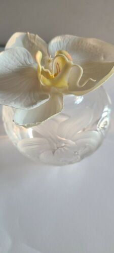 Tiffany & Co Louis Comfort Tiffany Crystal Orchid Vase