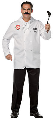 Seinfeld Soup Nazi Adult Men's Costume Jacket & Mustache Halloween Rasta Imposta - Seinfeld Costumes