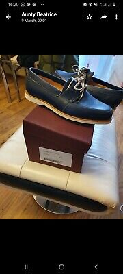 John lobb shoes arima dune calf deck colour blue