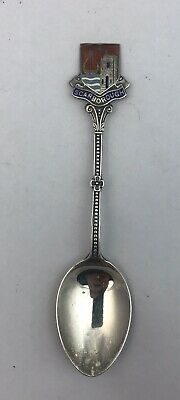 Silver & Enamel Souvenir Spoon Scarborough Birmingham 1959